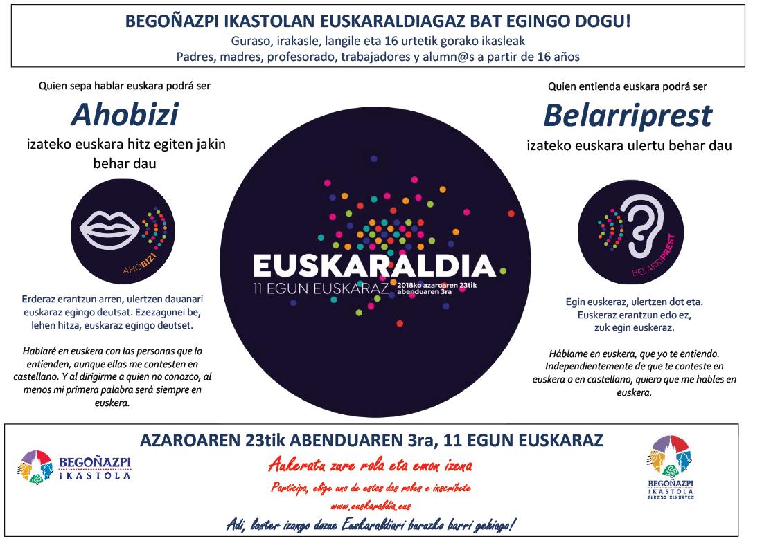 Euskaraldiari buruzko informazioa